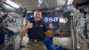 ESA-Astronaut Tim Peake an Bord der ISS