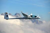 Testflüge in den Alpen: Das Forschungsflugzeug mit MACS%2dHimalaya Luftbildkamerasystem