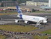 A380 beim Tag der Luft- und Raumfahrt 2009