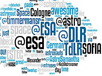 SpaceTweetup in Zahlen %2d Cloud mit O%2dTönen
