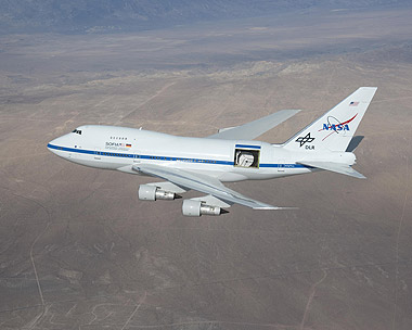 SOFIA-Testflug am 18.12.2009