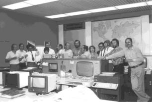 Satellitenkontrollzentrum vor der Gründung des DFD