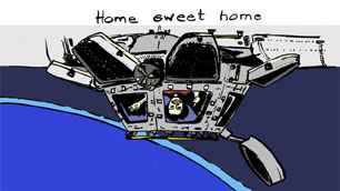 Comic: Samantha auf ISS