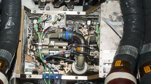 Condense Water Separator Assembly (CWSA) %2d die Klimaanlage des Columbus%2dModuls auf der ISS