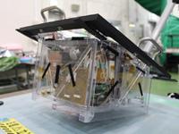 Das MASCOT%2dEngineering Model mit durchsichtigen Kunstoffwänden
