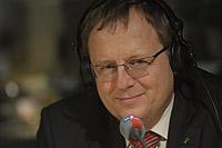 Jan Wörner beim WDR2%2dMonTalk. Bild: WDR/Fehlauer