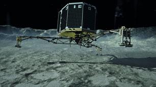 Kometenlandung (#CometLanding) von Philae am 12. November 2014