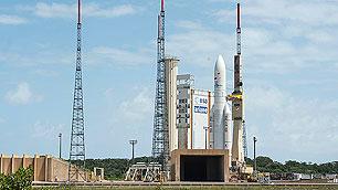Ariane 5 auf dem Launchpad