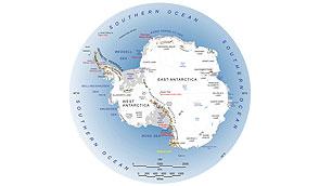 Antarktis-Karte