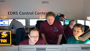 EDRS-Kontrollraum beim DLR in Oberpfaffenhofen