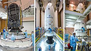 Intergration der Satelliten auf der Ariane 5