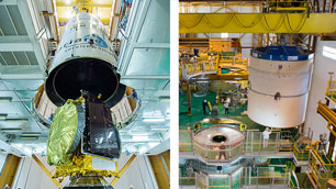 Die Bilder zeigen die Vorbereitungen für den Ariane 5-Start am 10. November 2015