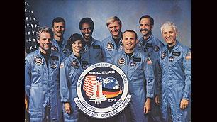 Die Crew der D1-Mission