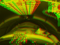 """3D%2dAnaglyphenbild des """"OCAM""""%2dKamerasystems an der Ariane 5ES"""