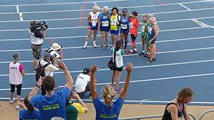 100 Meter Lauf der Frauen 80-84 Jahre