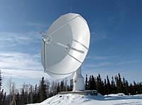 Antenne der Bodenstation Inuvik