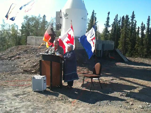 Inauguration of DLR's ground station in Inuvik, Canada