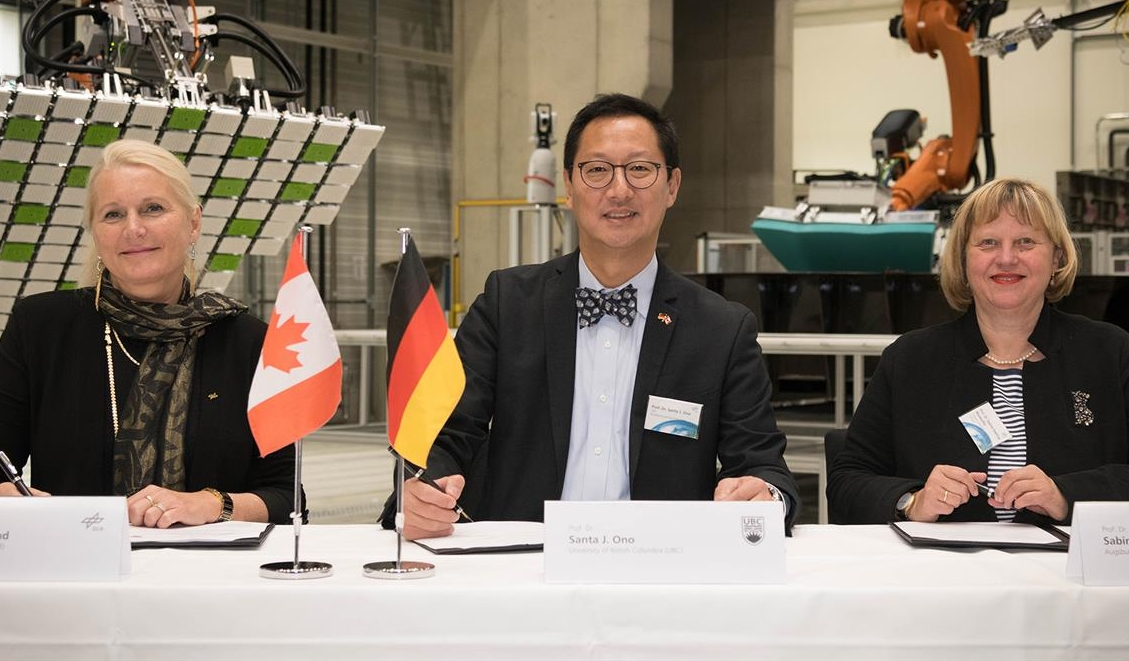 Unterzeichnung Kooperationsvertrag DLR@UBC