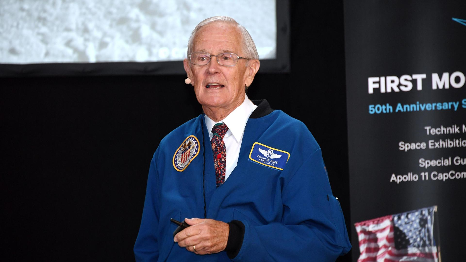 Apollo-11-CapCom und Apollo-16-Moonwalker Charles M. Duke Jr.