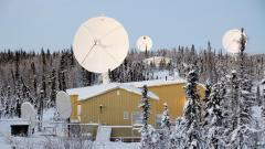 International Satellite Station Facility (ISSF) des Earth Observation Center in Inuvik, Kanada