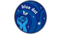Das Logo zur ISS-Mission 'The Blue Dot'