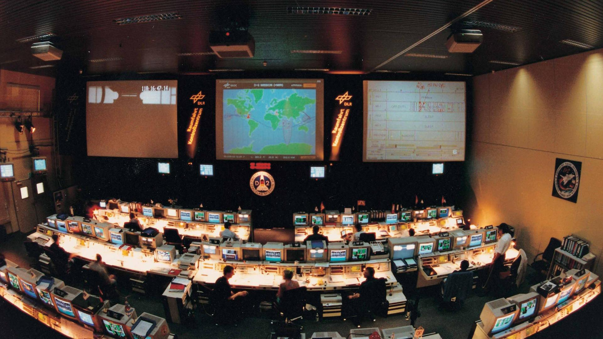 Activity in Mission Control during the D-2 Mission