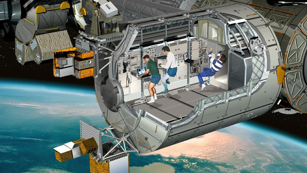 Artist's impression of the Columbus laboratory