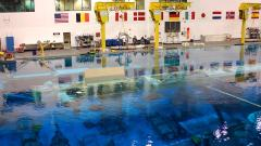 The large training-pool at the Neutral Buoyancy Laboratory