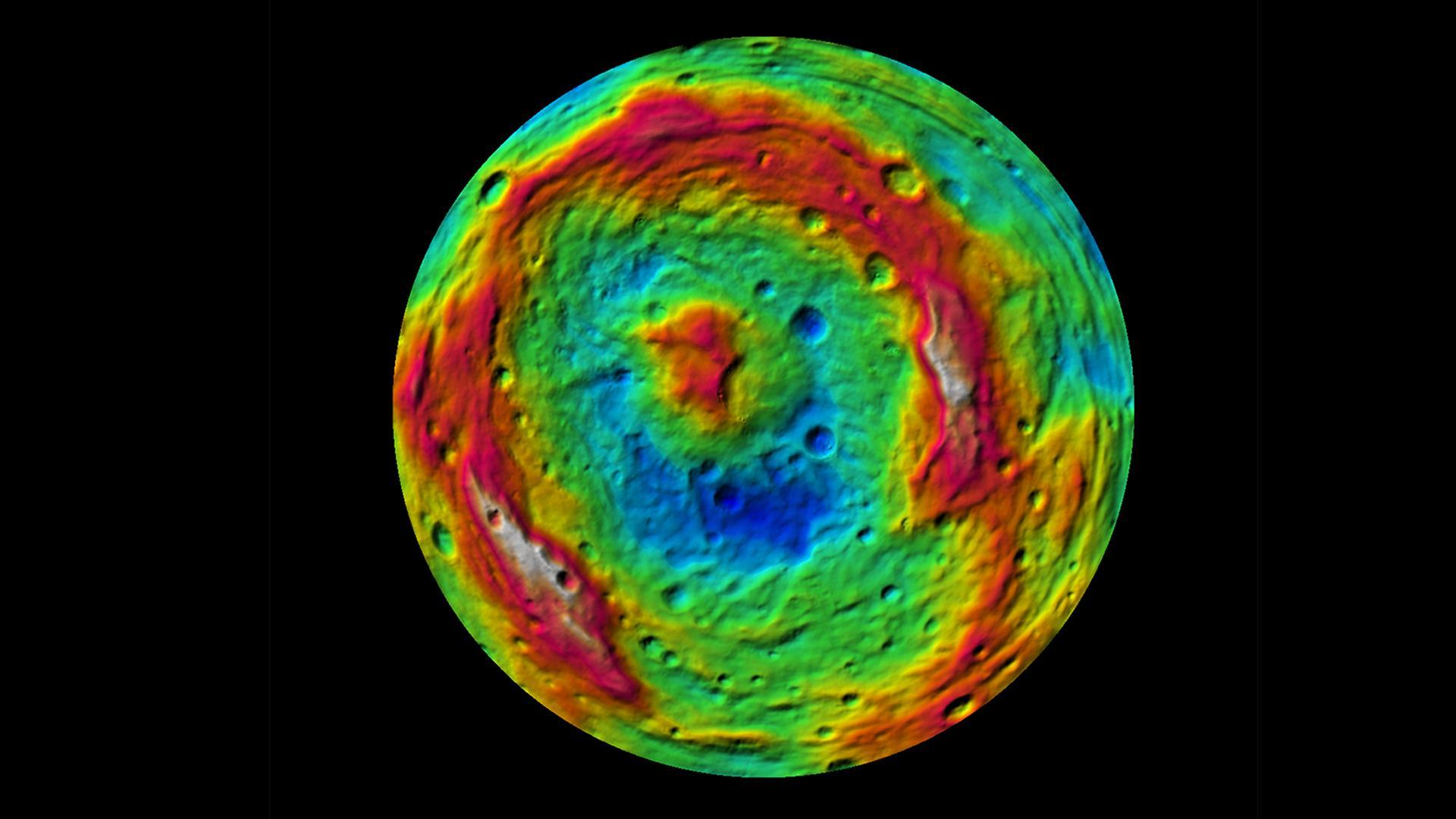 The topography of Vesta's south pole
