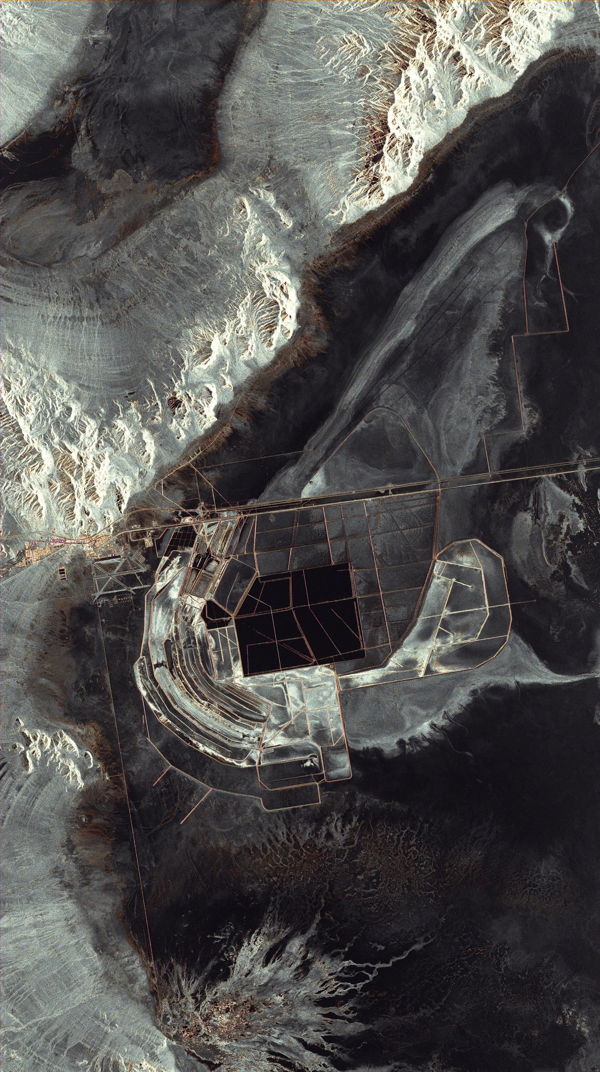 TerraSAR-X radar satellite image of salt flats