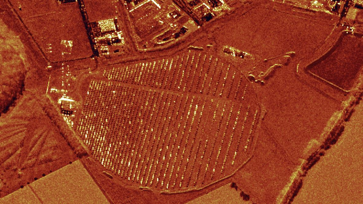 TerraSAR-X image of DLR Experimental Solar Thermal Power Plant in Jülich