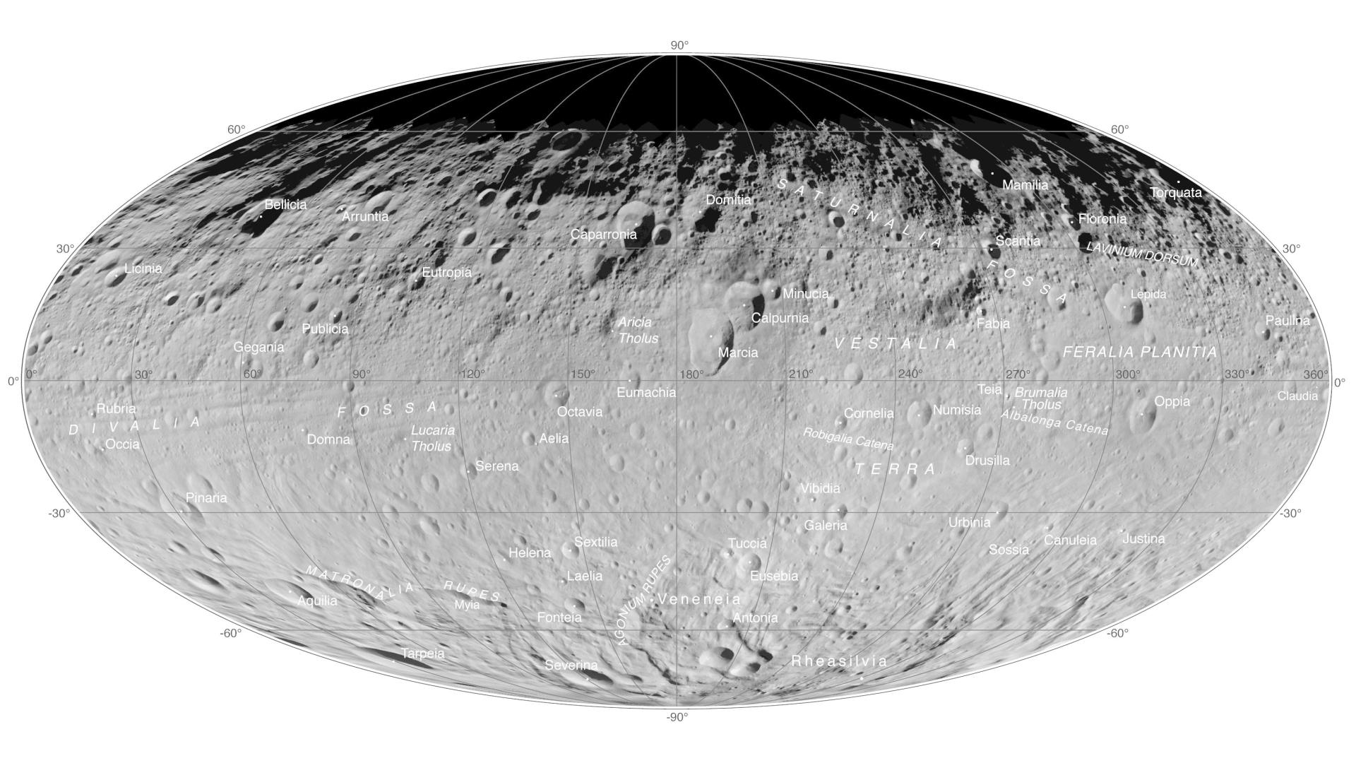 Overview of the asteroid Vesta