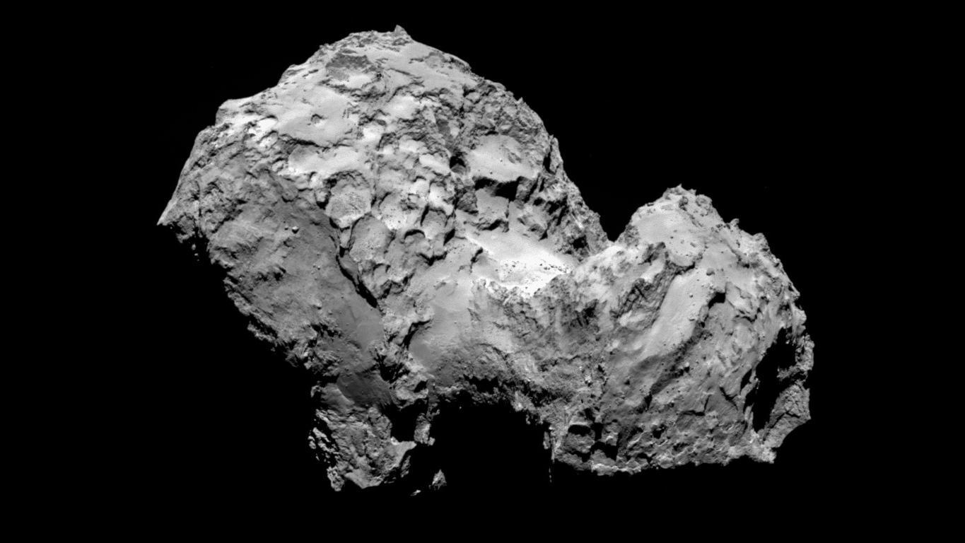 Comet 67P/Churyumov-Gerasimenko on 3 August 2014