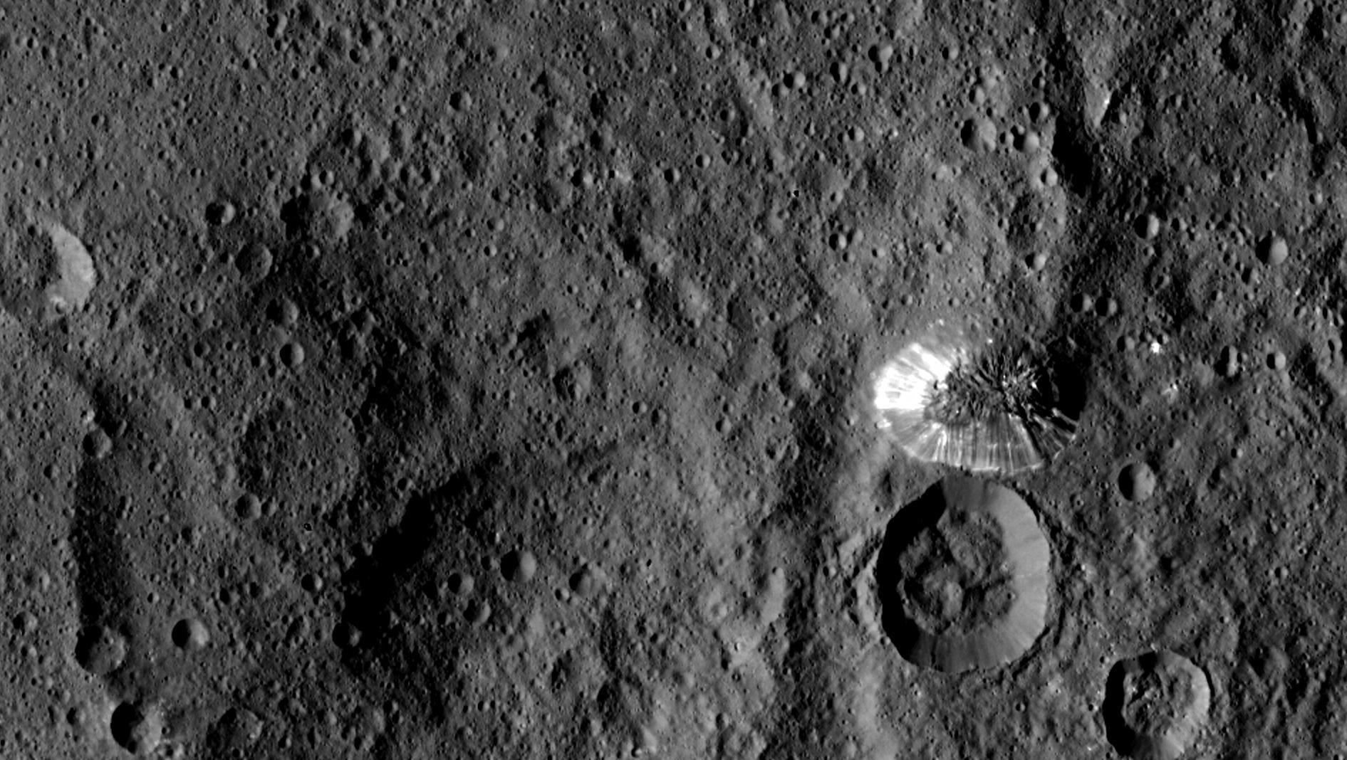 Rocks and craters on Ceres