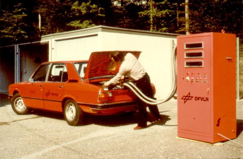 1978: For the first time, a car in Europe is fuelled with hydrogen