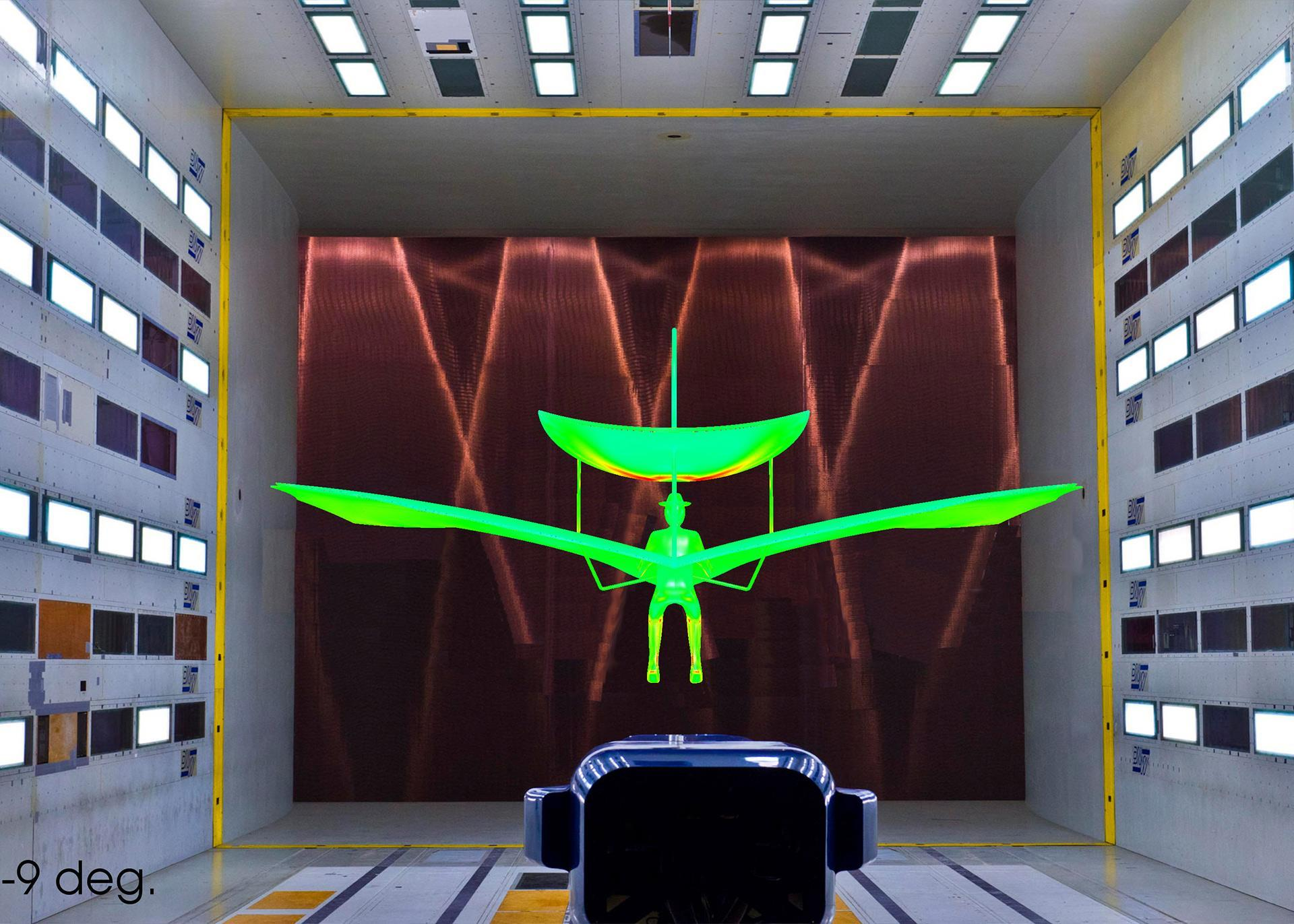 Simulation of Lilienthal's flight in the wind tunnel