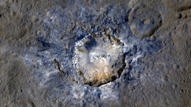 The crater Haulani on Ceres