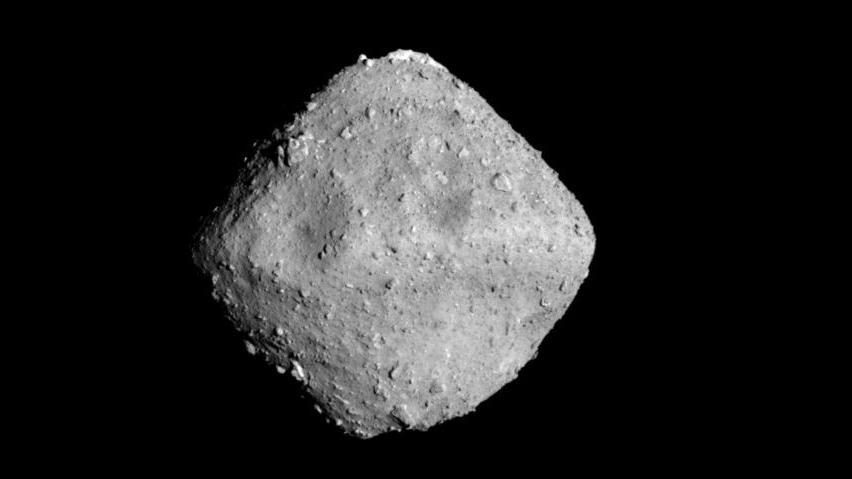 Asteroid Ryugu imaged from a distance of approximately 22 kilometres