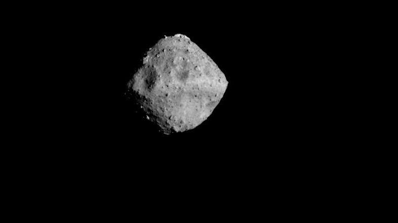 Asteroid Ryugu imaged from a distance of approximately 40 kilometres