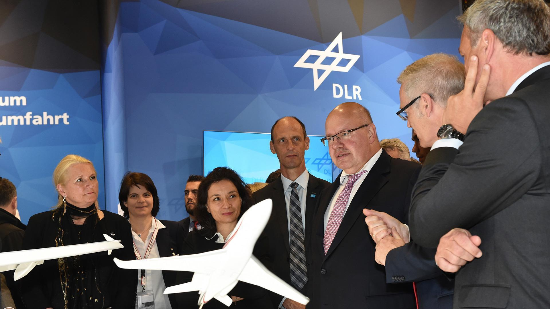 Federal Minister for Economic Affairs and Energy Peter Altmaier visits the DLR stand at ILA