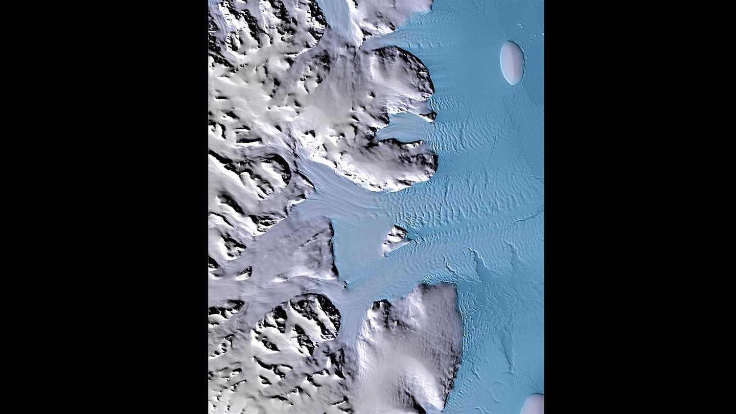 Elevation model of Palmer Land on the Antarctic Peninsula