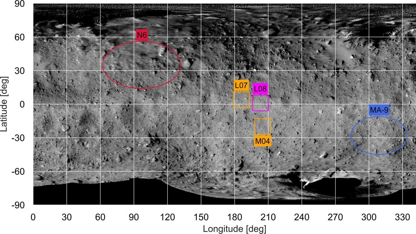 Landing sites for the Hayabusa2-Mission on the asteroid Ryugu