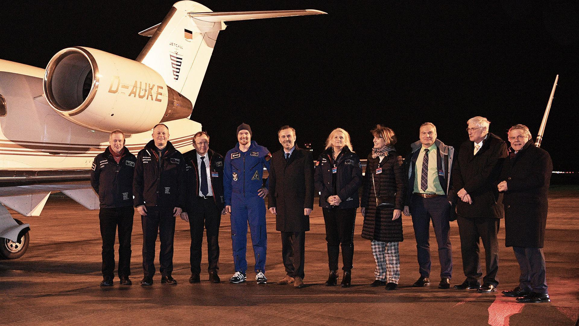 Reception for Alexander Gerst at Cologne/Bonn Airport