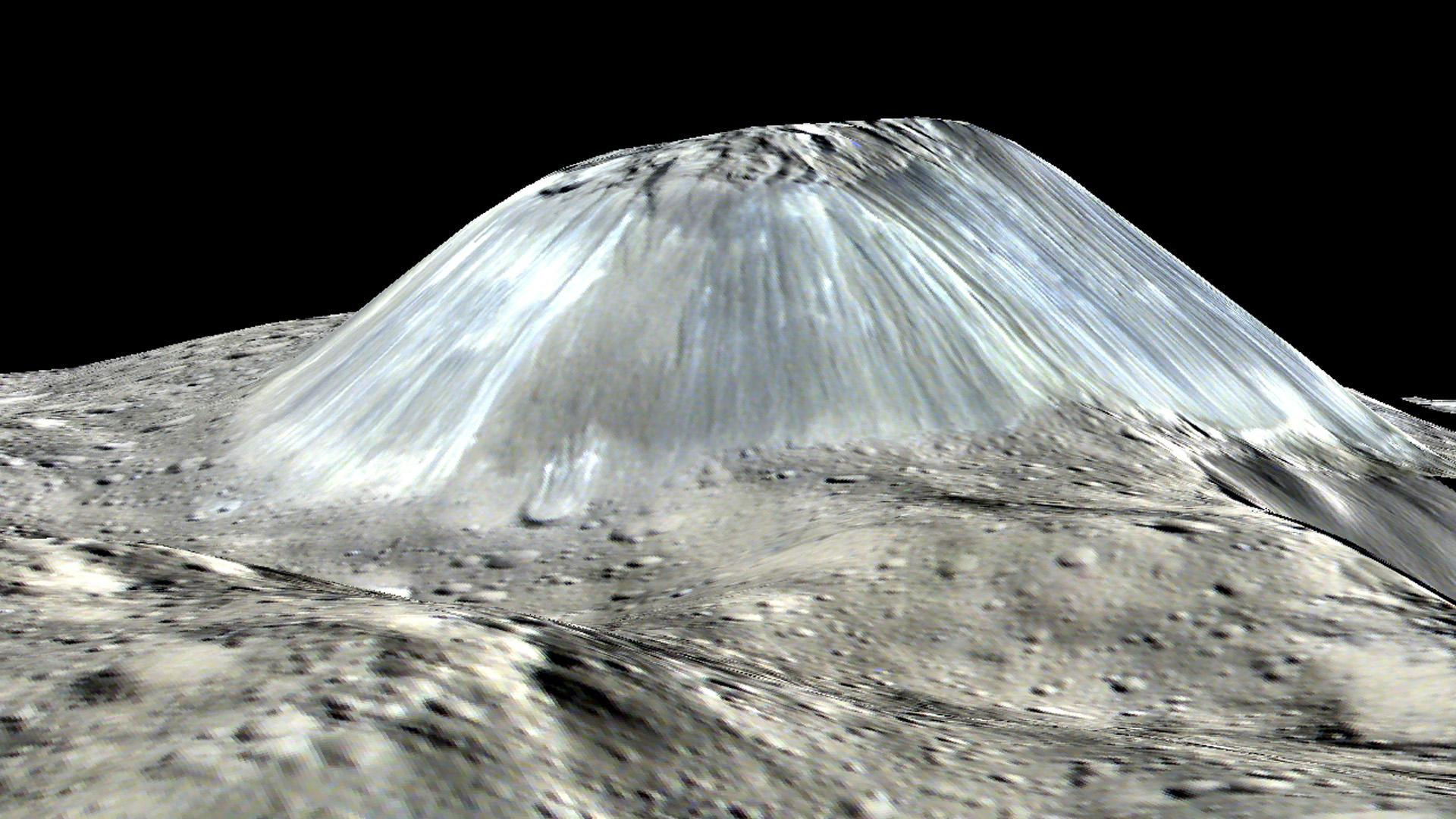Perspective view of Ahuna Mons