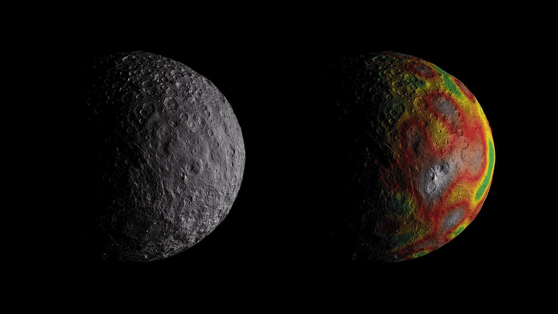 Ceres – Global view and gravitational field