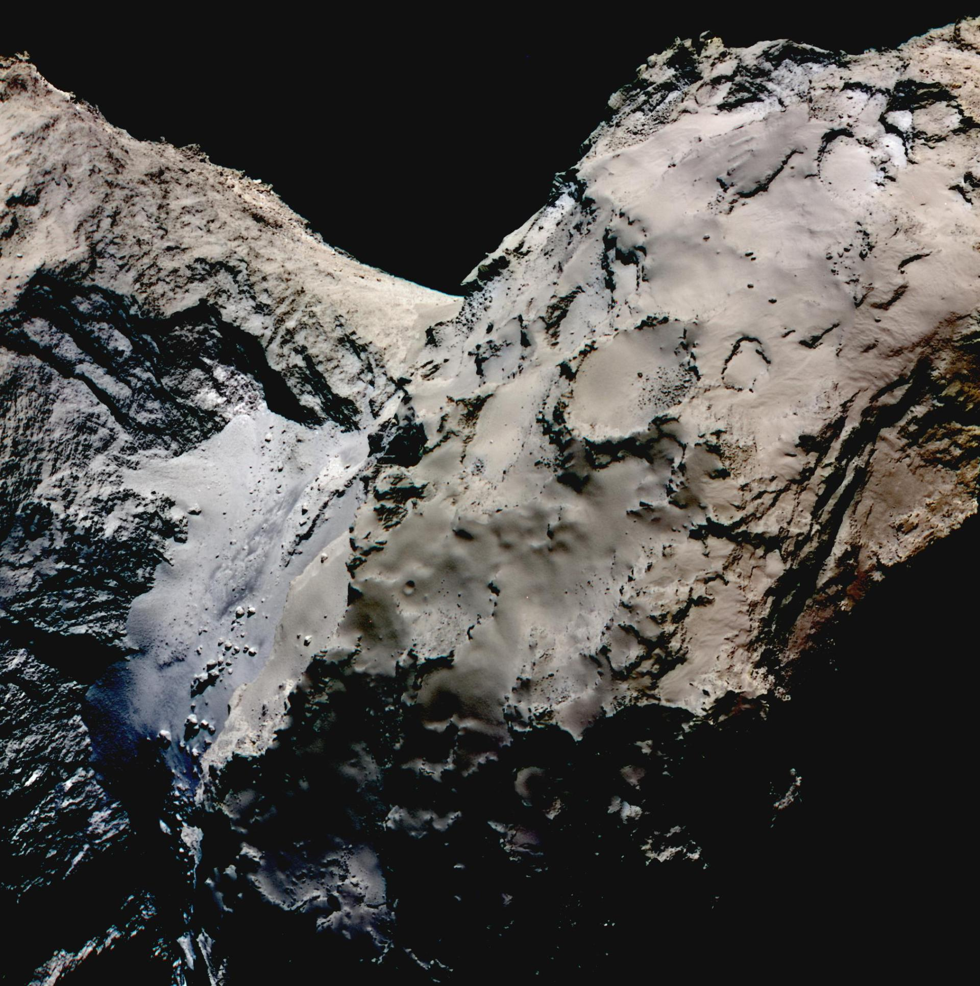 False-colour image of the Hapi region on 67P