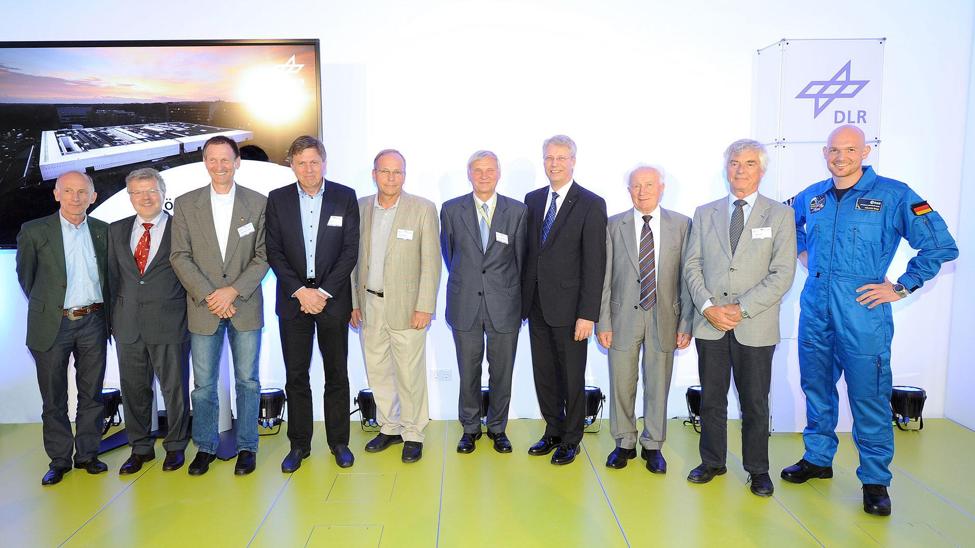 Ten German astronauts were present at the opening of :envihab in 2013
