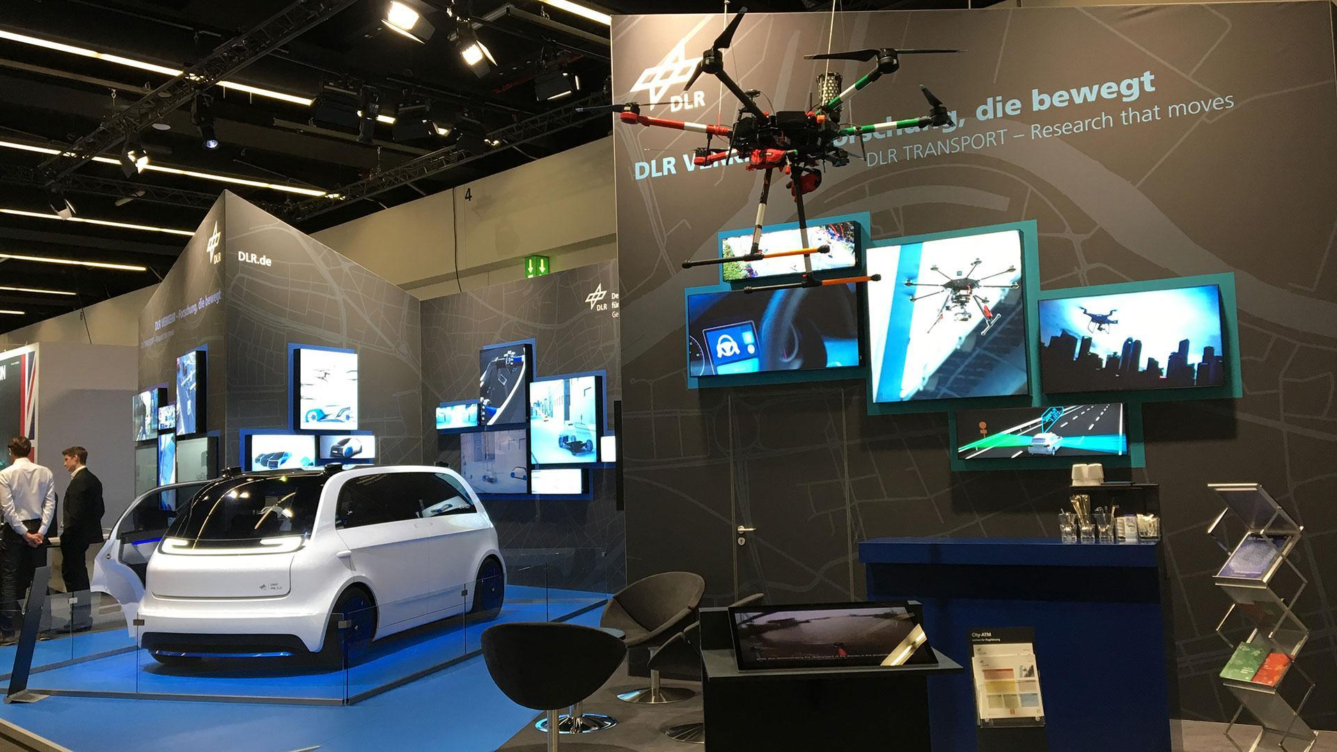 DLR stand at IAA New Mobility World 2019