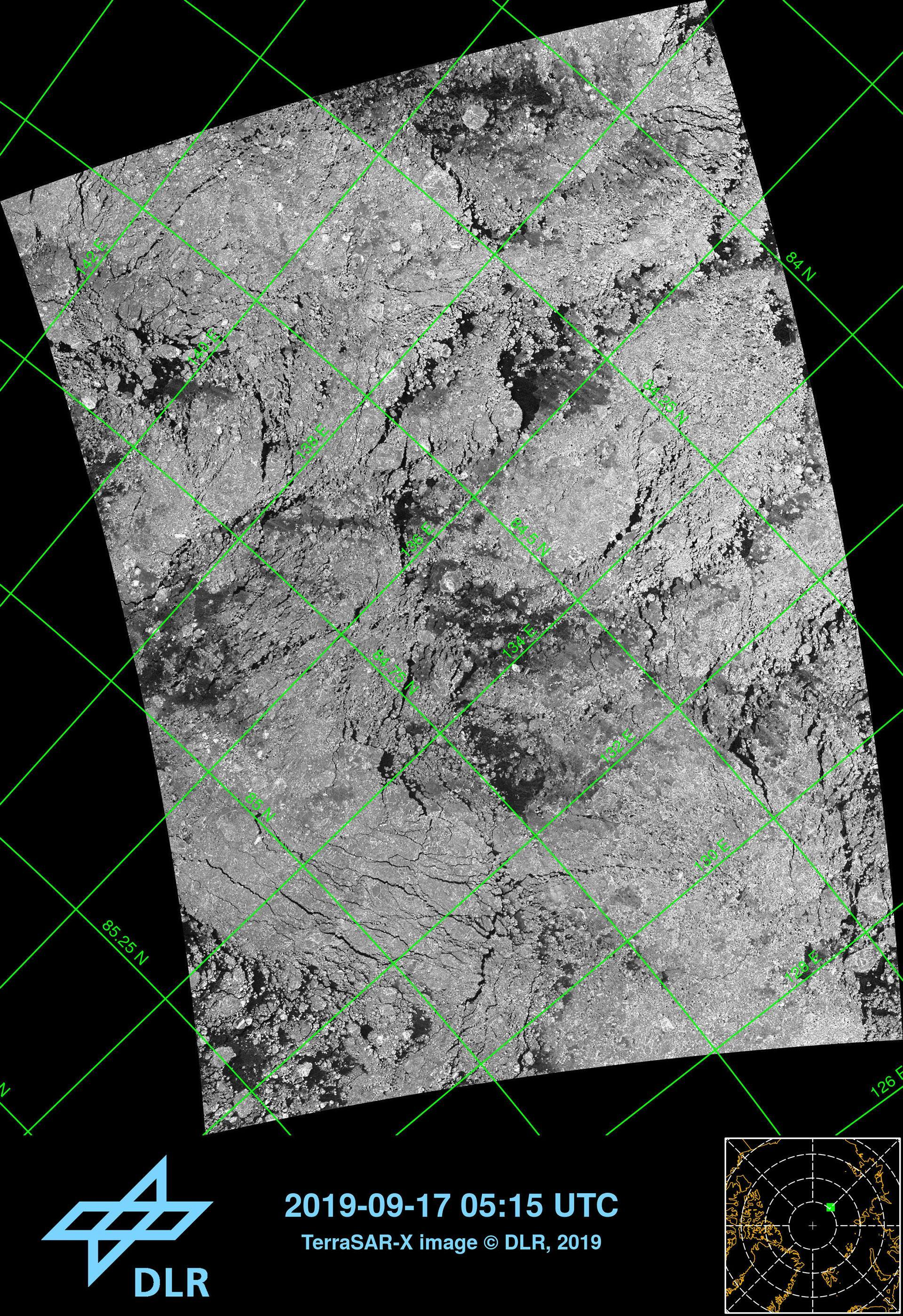 TerraSAR-X image of the target region for MOSAiC from 17 September 2019