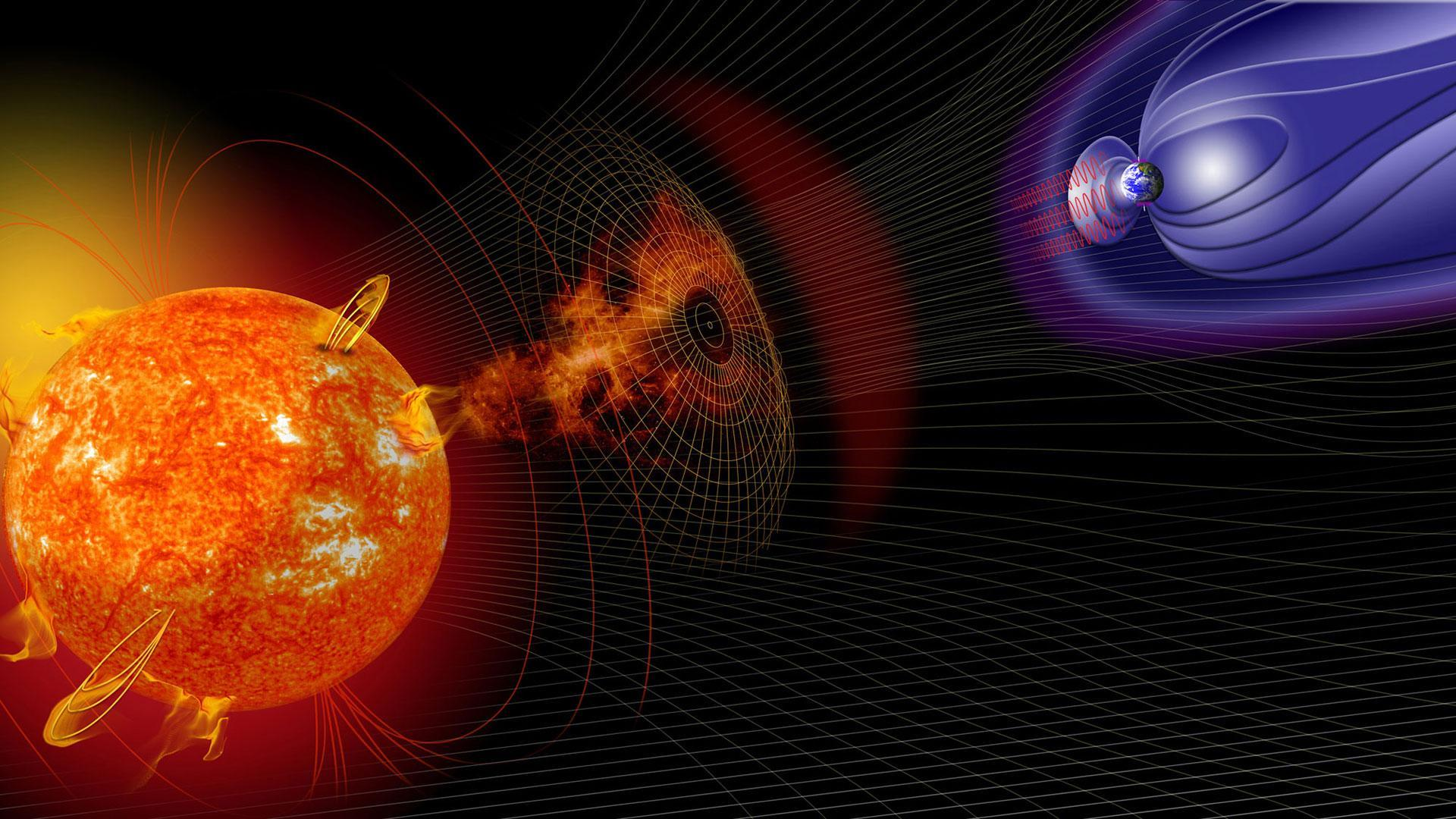 Space weather influences the Earth's magnetic field